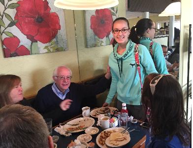 Meeting Bernie Sanders