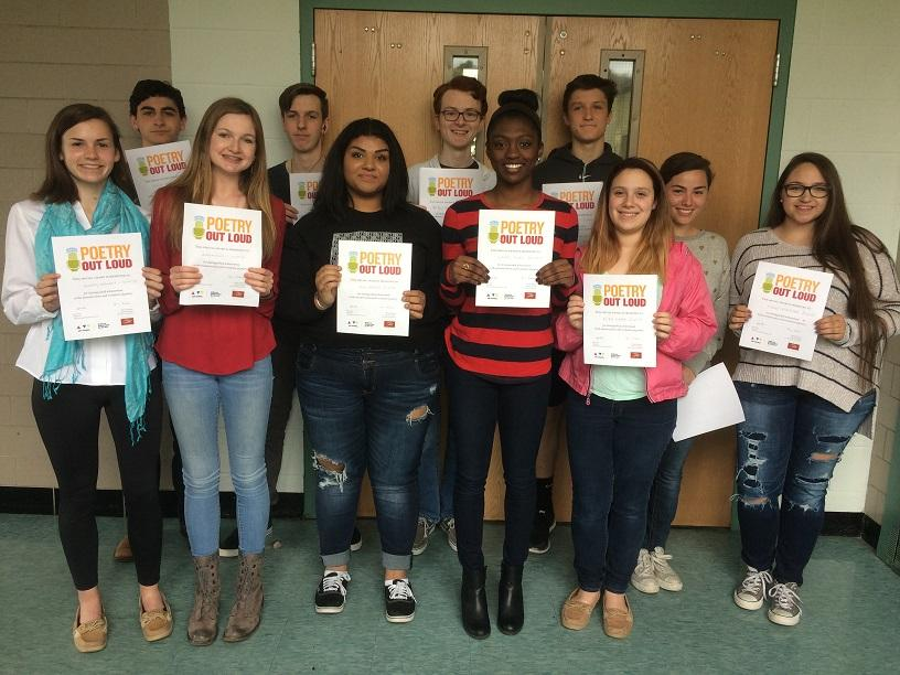 Poetry Out Loud Competition Winners