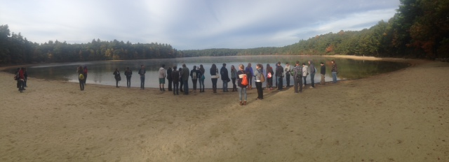 Students+stand+in+front+of+Walden+Pond%2C+Concord%2C+MA.