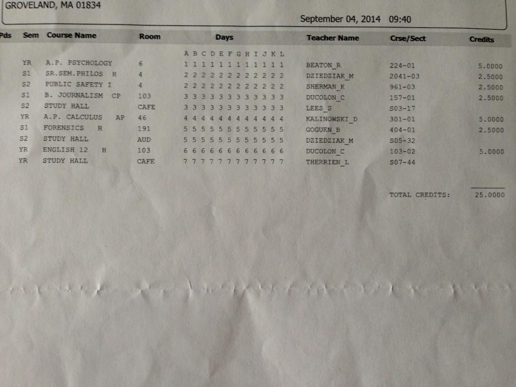 Static Schedule