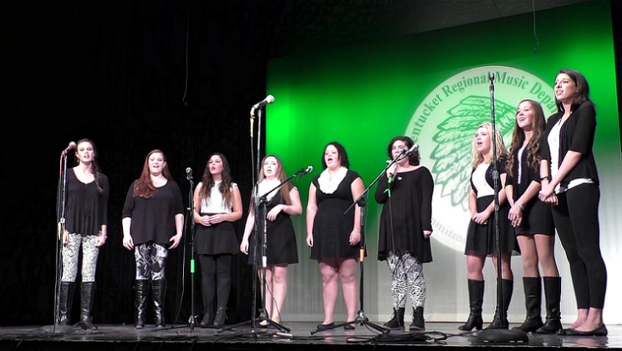 Chorus and Band Spreading Holiday Cheer