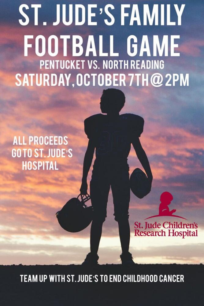 Pentucket to Host Football Game to Benefit St. Jude's