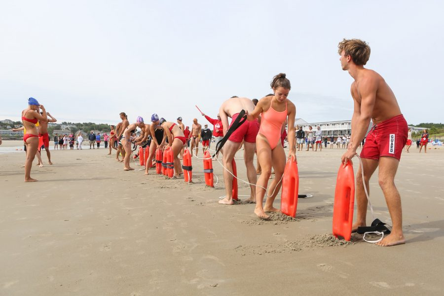 38th Annual Northern New England Lifesaving Championship with lifeguards from Ogunquit, Hampton, Sailsbury and Wells Beaches on Saturday July 29th, 2017, on the Atlantic Ocean, Ogunquit, ME.  Matt Parker Photos