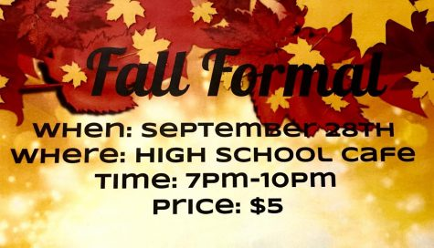 Dress up, Jam Out, and have Fun at the Fall Formal!