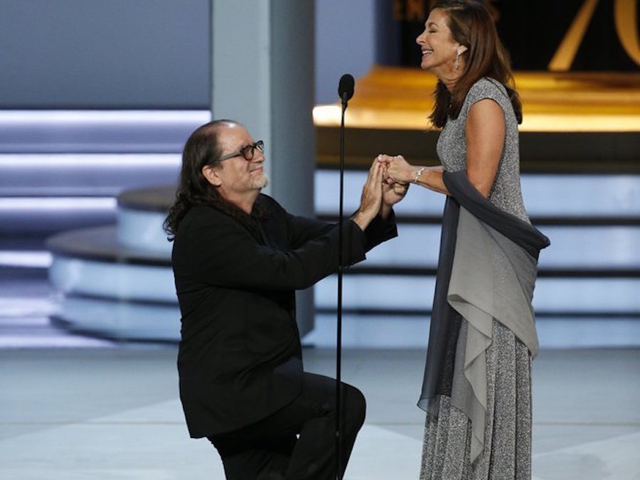 Glenn+Weiss+%22Directing+-+Variety+Special+for+The+Oscars%22+proposes+to+his+girlfriend+during+the+70th+Annual+Primetime+Emmy+Awards+held+at+the+Microsoft+Theater+on+September+17th%2C+2018.