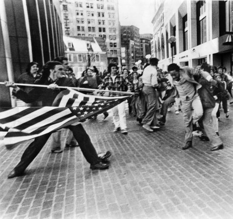 """The Soiling of Old Glory,"" taken by Stanley Forman in 1976"