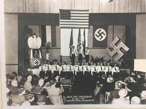 Hitler's birthday celebration in Los Angeles in 1935